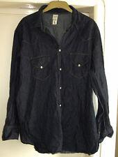 Men's GAP western style wrinkle shirt size large