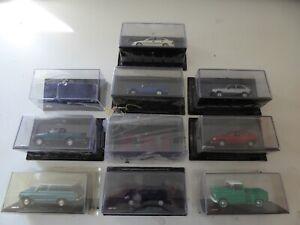 Lot de 10 voitures miniatures Chevrolet 1/43 SALVAT Diecast BOITES CASSEES CB8