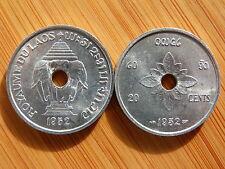 Pièce monnaie LAOS COLONIE INDOCHINE INDOCHINA 20 Cents 1952 ELEPHANTS AU UNC