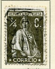 Portugal; 1912 early Ceres type issue fine used value 1/4c.