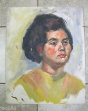Vintage Oil Painting GOSTON? PORTRAIT OF A WOMAN 2 on Board