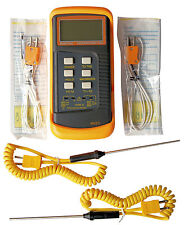 Dual channel K-Type Digital Thermocouple Thermometer 6802 II ,4x probes BGA,HVAC