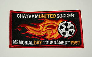 3 Soccer Assoc Team Club Chatham United Tournament New Jersey Patch New NOS 1997