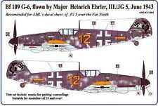 AML Models 1/32 CAMOUFLAGE PAINT MASKS Bf-109G Flown by Heinrick Ehrler III/JG 5