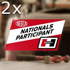 2x Stück Hurst Nationals Participant Aufkleber Sticker Hemi Mopar NHRA Hot Rod