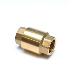 """Female Inline Check Valve Anti Backflow  1/2"""" NPT FPT FIP WOG FasParts Brass"""
