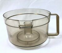 Amber Work Bowl Vtg General Electric Food Processor D1FP1B Replacement