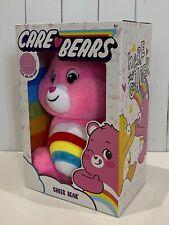 """2020 Care Bears Cheer Bear Plush Soft Pink 14"""" Medium Huggable Material"""