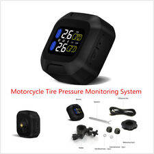 Wireless Motorcycle Waterproof TPMS LCD Display Tire Pressure Monitoring System