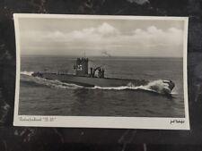 Mint WW 1 Germany RPPC Postcard U Boat Submarine L.M. Unterseeboot 23 At The Sea