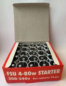 25 Fluorescent Starters 4-80w 200-240V Tube Strip Light  FS U FSU UK SELLER Bulk