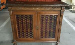 Librery Cupboard Small Bookcase Renaissance Walnut Inizii 900