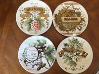"""Four (4) Pottery Barn PARIS Charcuterie Braine 1894 Appetizer Salad Plates 7"""""""