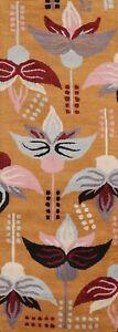 """ORANGE Floral Modern Oriental Hallway Runner Rug Wool Hand-Tufted 2' 7"""" x 8' 0"""""""