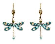 NEW ANNE KOPLIK IN FLIGHT DRAGONFLY EARRINGS SWAROVSKI CRYSTALS  ~~MADE IN USA~~