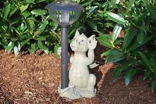 Dragon avec lampe solaire Lanterne Jardin Figurine Décoration stand personnage tierfigur personnage