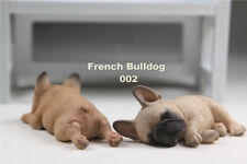 one pair  Resin DOG French Bulldog Hand Painted simulation Figurine Statue
