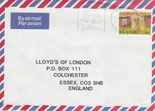 Z3932 Mariehamn Oct 1998 air commercial cover UK; 290 rate, solo stamp