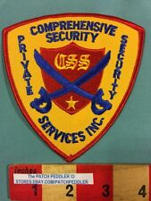 PATCH ~ CSS COMPREHENSIVE PRIVATE SECURITY SERVICES INC. CROSSED SWORDS 5NU3