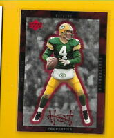 33828 BRETT FAVRE 1996 UPPER DECK HOT PROPERTIES PACKERS CARD #HT4  🏈