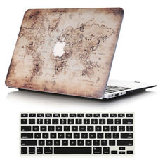 2in1 Map Hard Case shell + Keyboard Cover for Macbook Air 13 A1369 A1466