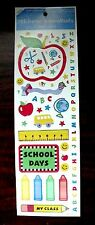 NEW VINTAGE AGC SCHOOL DAYS WINDOW AUTOCOLLANT SCRAPBOOKING CRAFT STICKERS SHEET
