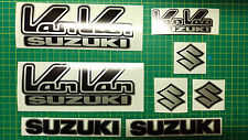 Van Van Decals Stickers Rv RV125 RV 125 VanVan Black & Silver suzuki non oem