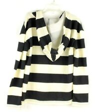 ROXY Gilrls' Hoodie Sweatshirt Pullover Black And White Striped Size 8/10