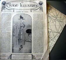 LA MODE ILLUSTREE + PATRON,  n° 24/1918 Voir modèles à réaliser, FRENCH PATTERN
