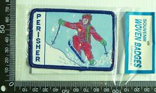 VINTAGE PERISHER NSW EMBROIDERED SOUVENIR CREST PATCH WOVEN CLOTH SEW-ON BADGE