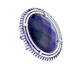 Vintage stile punk multicolore effetto ovale regolabile anello