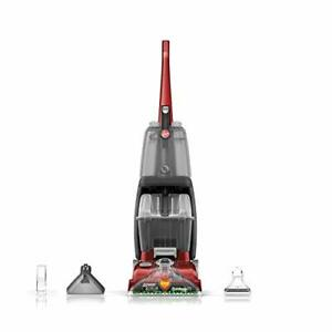 Hoover Power Scrub Deluxe Carpet Cleaner Machine, Upright Shampooer, FH50150,Red