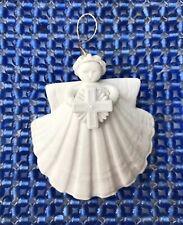 "1993-Margaret Furlong-Sea Shell Angel w/ Cross-Xmas Ornament-3""-Retired"