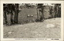 Carnavon Ontario Canoeing Red Umbrella Inn Real Photo Postcard