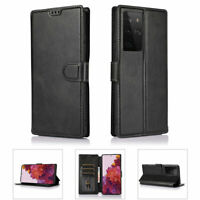 Flip Leather Credit Card Pocket Stand Shockproof Case Cover Samsung Galaxy Phone