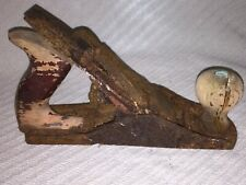 Vintage VICTOR Wood Ball Hitch Head Assembly, Rusty, Patina, Decor, Towing, RARE