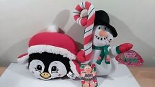 "Sugar Loaf Toys Christmas Penguin 8"" And Snowman 12"" Plush 2012 And 2013 NWT"