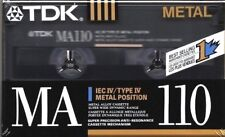 3 X TDK MA 110 Type IV Metal Cassette Tape Made in Japan