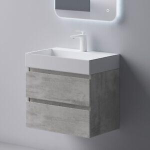 Waschtischunterschrank Badmöbel Set 2 Schubladen SoftClose MDF 60cm 70cm 100cm