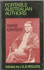 Portable Henry Kingsley edited by J S D Mellick (pb 1982) Incl Geoffry Hamlyn+++