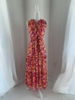 MISA Los Angeles NWT Vibrant Summer Floral Viscose Resort Maxi Dress SZ XS