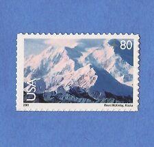 C137 Mt Mckinley Alaska Denali 2001 MNH SA  Air Mail Scenic America Single 80c