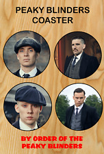 Peaky Blinders Coaster Set Tommy Shelby played by Cillian Murphy Fathers Day