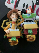 Disney Parks Woody and Buzz Lightyear Figural Ornament Bell Set Toy Story New