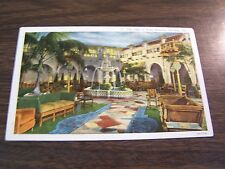 ANTIQUE - THE PATIO OF HOTEL HERSHEY - HERSHEY PA -  POST CARD