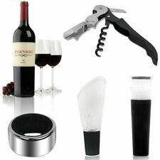 4 in 1 Wine Tool Gift Set Stainless Steel Bottle Opener Corkscrew Stopper Pourer