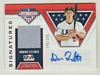 2019 Stars & Stripes SIGNATURES AUTO RELIC DOMINIC FLETCHER RC Rookie 146/299