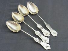 4 schöne alte Silber Teelöffel China ca um 1900