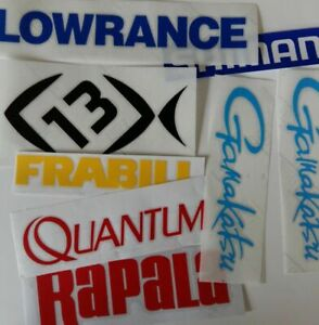 LOT of (6) Fishing Decals Fishing Stickers for Brand Lovers Simms Costa Concept
