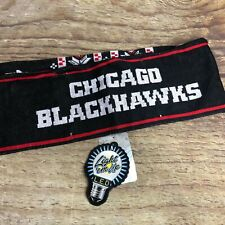 NEW NHL Forever Collectibles LED Light Up Scarf Chicago Blackhawks Hockey